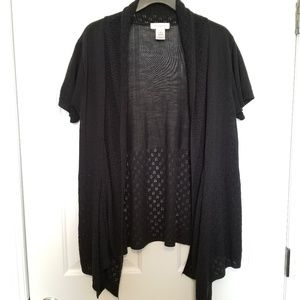 Black Shortsleeve Cardigan